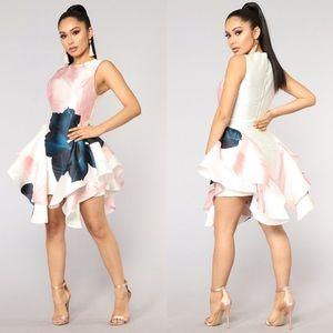 Fashion Nova Mademoiselle Flare Dress Floral
